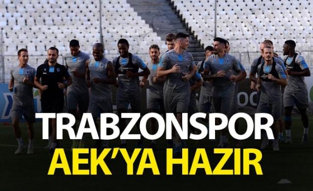 Trabzonspor AEK'ya hazır