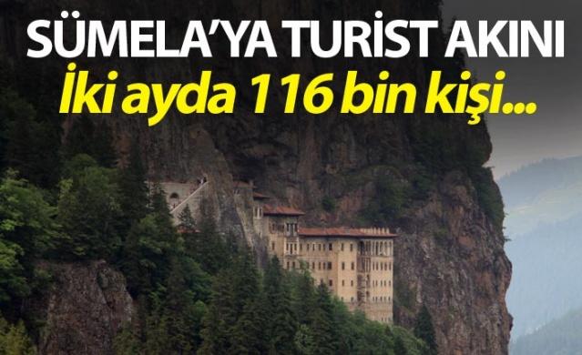 Sümela Manastırını bu yılın iki aylık döneminde 116 bin kişi ziyaret etti