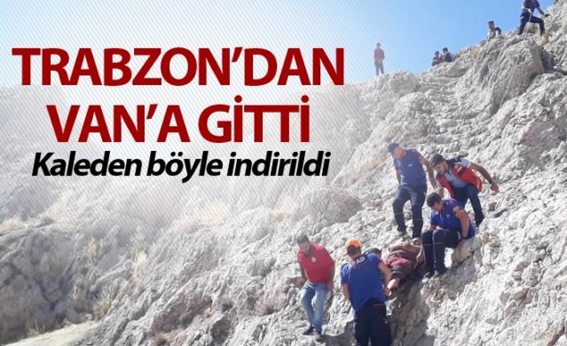 Trabzon'dan Van'a gitti - Kaleden böyle indirildi