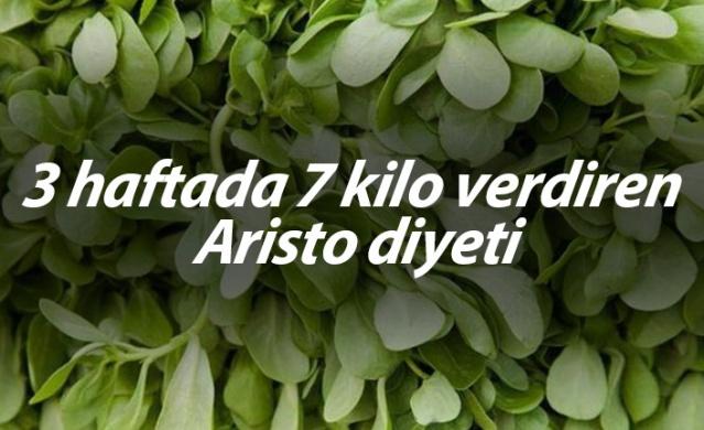 3 haftada 7 kilo verdiren Aristo diyeti