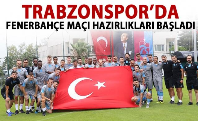 Trabzonspor'da Fenerbahçe maçı hazırlıkları başladı