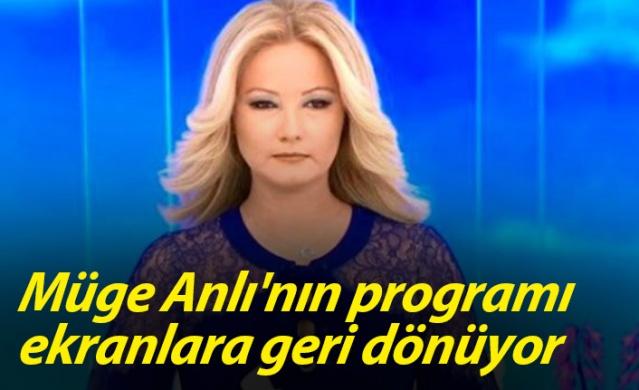 Ekranların en çok izlenen programı Müge Anlı ile Tatlı Sert, Pazartesi günü 12'inci sezonuyla izleyici karşısına çıkacak.
