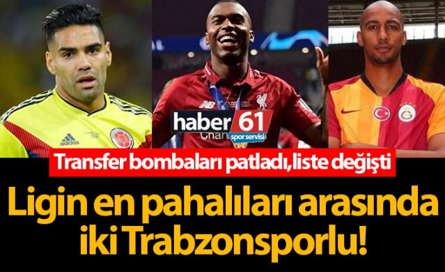 Ligin en pahalıları arasında iki Trabzonsporlu