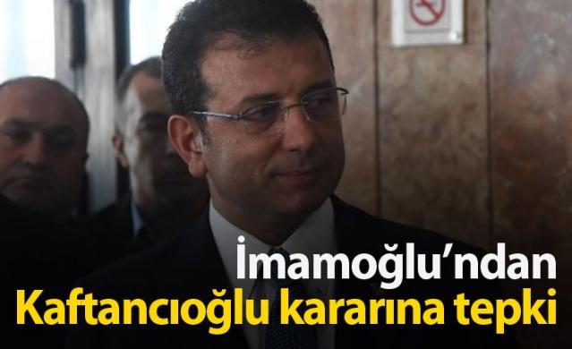 """İstanbul Büyükşehir Belediye Başkanı Ekrem İmamoğlu, 88'inci İzmir Enternasyonal Fuarı için geldiği kentte, CHP İstanbul İl Başkanı Canan Kaftancıoğlu'na verilen 9 yıl 8 ay hapis cezasını değerlendirdi. İmamoğlu, """"Karar üzücü ve can sıkıcıdır. Hukuksuzluğun, üst mahkemede giderileceğine inanıyorum"""" dedi."""