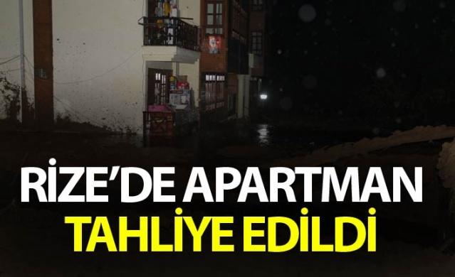 Rize'de apartman tahliye edildi