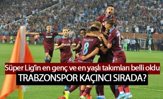 İşte Süper Lig'in en genç ve en yaşlı takımı! Trabzonspor kaçıncı sırada?