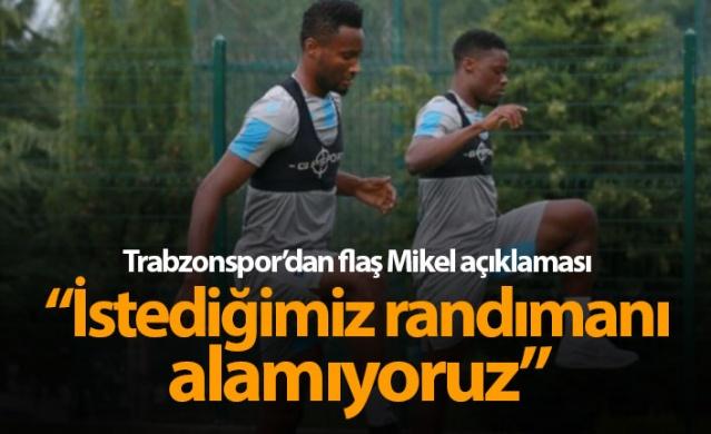 Trabzonspor'dan flaş Obi Mikel açıklaması