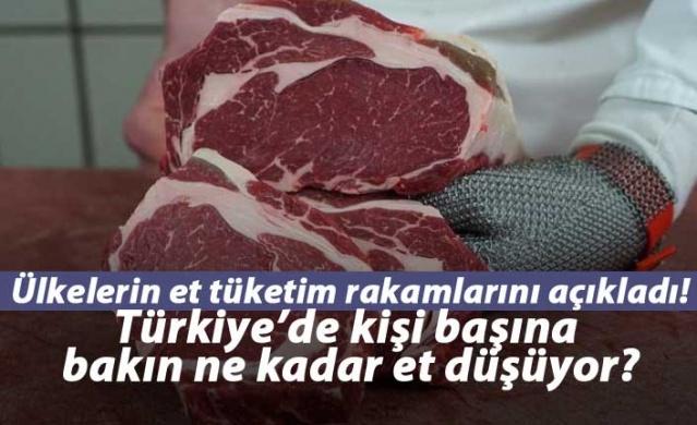 Türkiye'de kişi başına 8.5 kilo et tüketiliyor