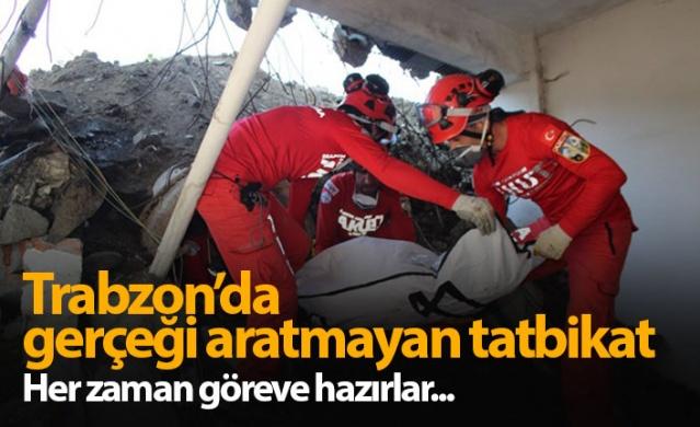Trabzon'da AFAD tatbikatı