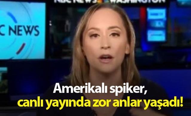 Amerikalı spiker, canlı yayında zor anlar yaşadı!