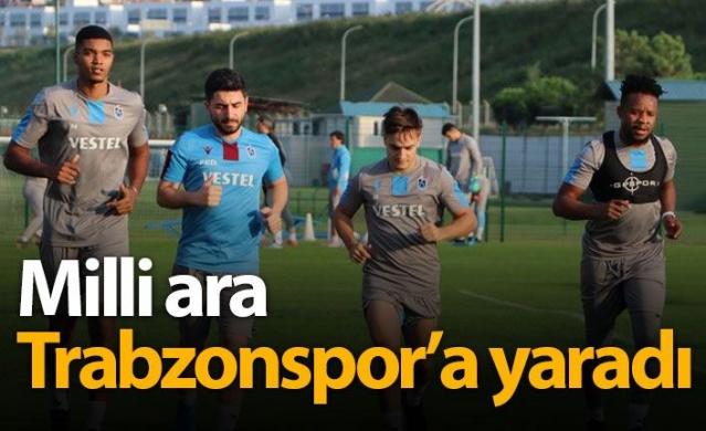 Milli ara Trabzonspor'a iyi geldi