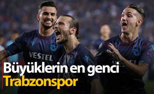 Büyüklerin en genci Trabzonspor