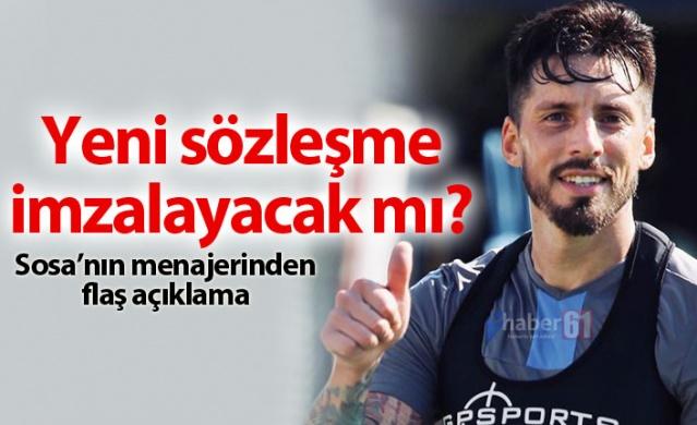 Ünal Karaman yönetimindeki Trabzonspor'da başarılı bir sezon geçiren kaptan Jose Sosa'nın sözleşmesi sezon sonunda sona erecek. Peki, Trabzonspor'un kaptanı Jose Sosa'nın sözleşmesi uzatılacak mı? İşte detaylar...
