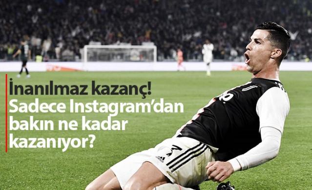 Ronaldo'nun İnstagram kazancı maaşından yüksek