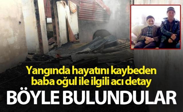 Giresun'da yangında ölen baba oğul ile ilgili acı detay - Böyle bulundular.