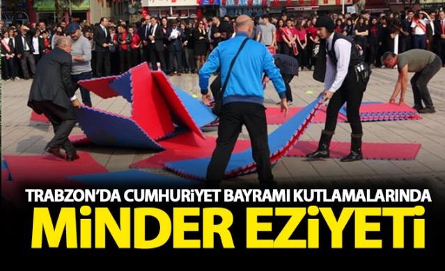 Trabzon'da gösterilerde minder eziyeti