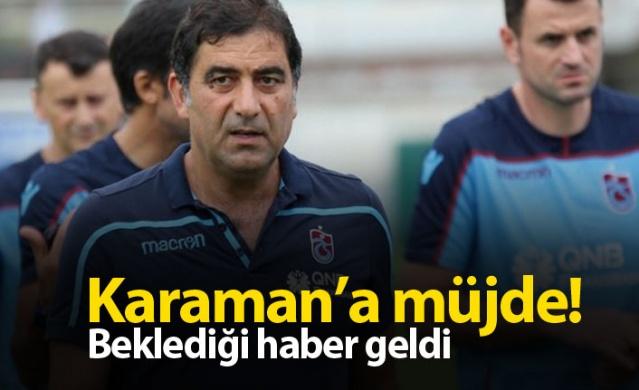 Trabzonspor'da Karaman'a müjde