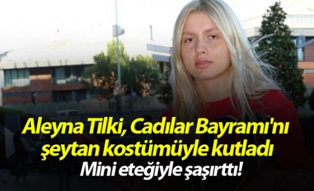 Aleyna Tilki, Cadılar Bayramı'nı şeytan kostümüyle kutladı!