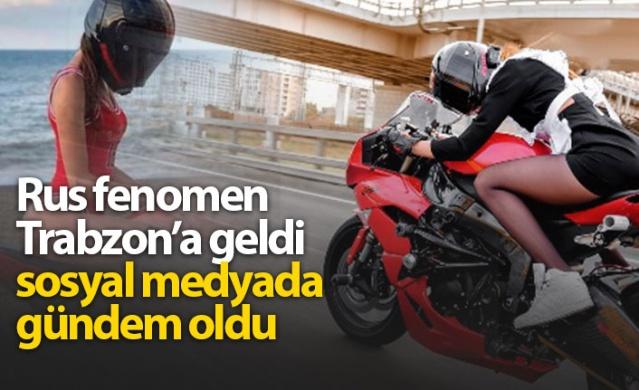 Rus fenomen Tanechka Ozolina Trabzon'a geldi, sosyal medyada gündem oldu