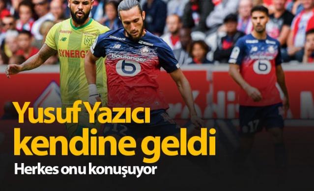 Sezon başında Trabzonspor'dan 16.5 milyon Euro karşılığında Lille'e transfer olan Yusuf Yazıcı, son dönemdeki performansı ile göz dolduruyor. 22 yaşındaki on numara, Fransız ekibinde son 3 maçta 1 gol ve 4 asistlik performans sergiledi