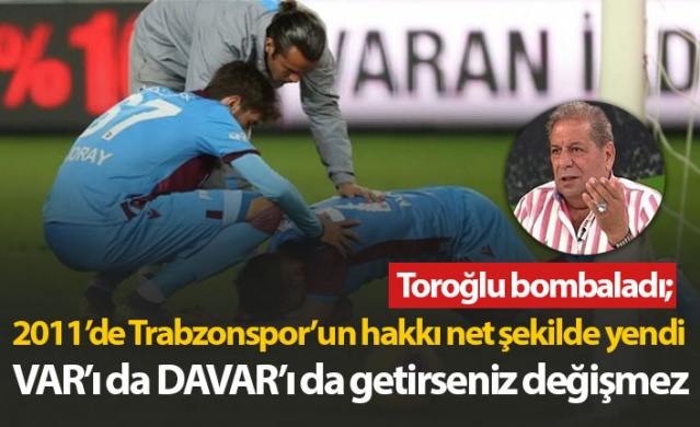 Eski hakem Erman Toroğlu, Trabzonspor'un son olarak Göztepe maçında hakemler tarafından skandal kararlarla biçilmesi sonrası sert ifadeler kullandı.  İşte Toroğlu'nun Fotomaç'taki o sözleri;