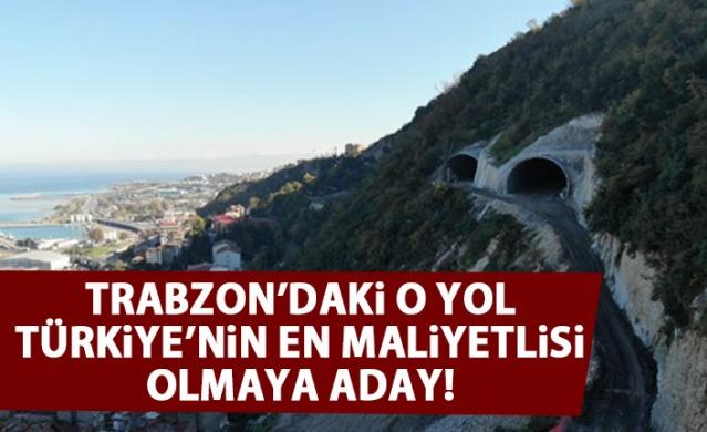Türkiye'nin en maliyetli şehir içi yolu Trabzon'da