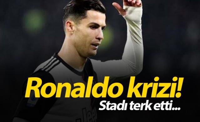 İtalya Serie A'da Milan'ı konuk eden Juventus'ta Ronaldo ikinci yarının başında oyundan alındı. Portekizli yıldız duruma tepki gösterdi.