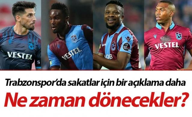 Trabzonspor'un sakatları için bir açıklama daha