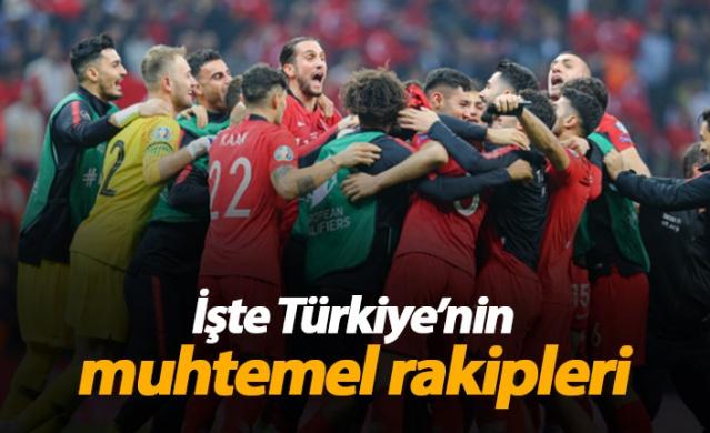 İşte Türkiye'nin muhtemel rakipleri
