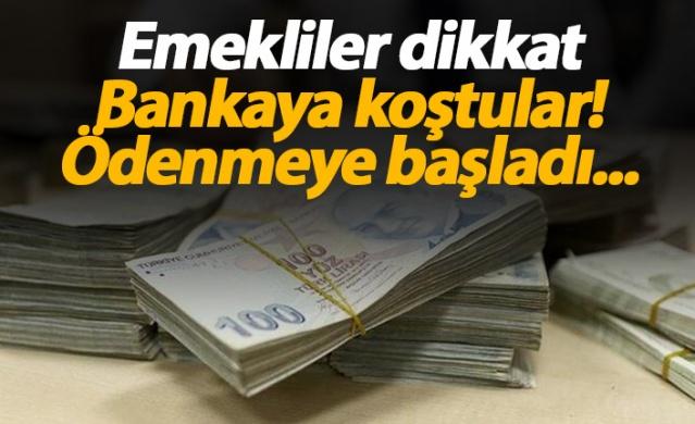 Emekli maaşlarının yattığı bankalar promosyon ödemeye başladı.