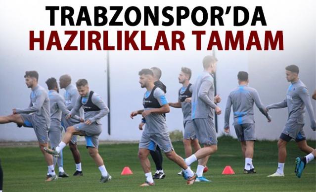 Trabzonspor'da Ankaragücü maçı hazırlıkları tamamlandı