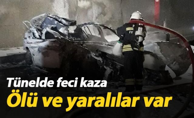 Tünelde kaza, ölü ve yaralılar var
