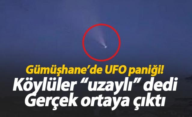 Gümüşhane'nin Torul ilçesine bağlı Yücebelen köyündeki Minarlı Yaylası'nda, gökyüzündeki parlak cisim, vatandaşlar tarafından görüntülendi. UFO sanılan cismin, Rus füzesi olduğu ortaya çıktı.
