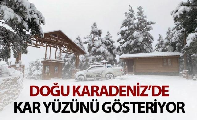 Doğu Karadeniz'de kar yüzünü gösteriyor