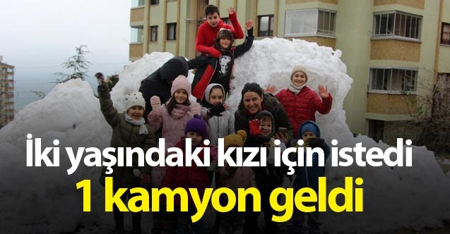 3 yıldır kar yağmayan Trabzon'a kamyonla kar getirdiler