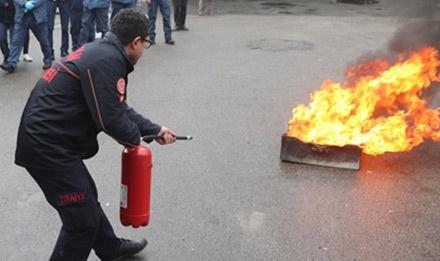 Trabzon'da afet ve yangın tatbikatı