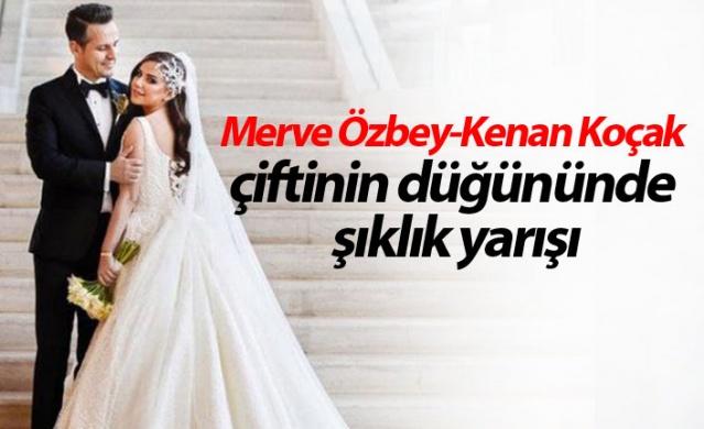 Merve Özbey-Kenan Koçak çiftinin düğününde şıklık yarışı
