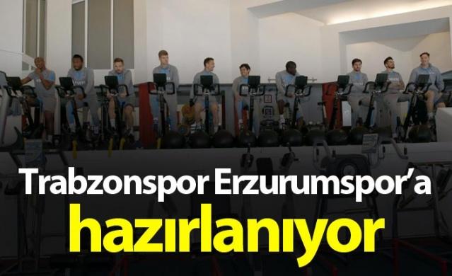 Trabzonspor Erzurumspor hazırlıklarına başladı