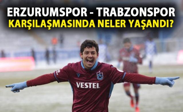 Erzurumspor - Trabzonspor maçından kareler