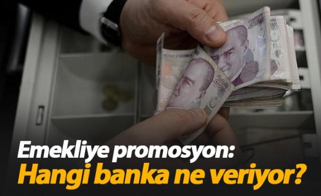 Bankalar emeklilere promosyonda kesenin ağzını açtı. Emeklilerin aylıklarını kendi şubelerine transfer etmek isteyen bankalar, 850 liraya kadar promosyon teklif ediyor. 10 emekli arkadaşını getirene ise 1500 TL vaat ediliyor.
