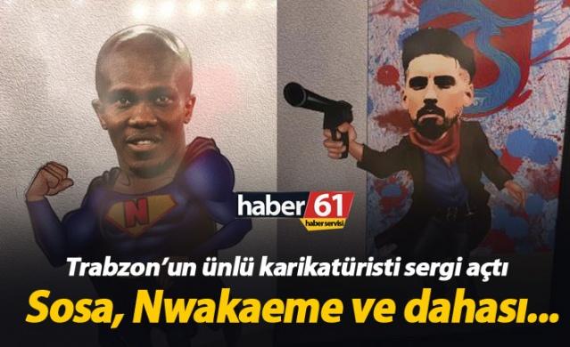 Trabzonlu ünlü karikatürist sergi açtı