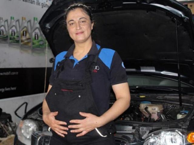 8 aylık hamile! Yaptığını gören inanamıyor...