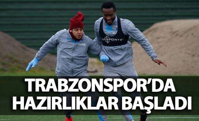 Trabzonspor'da antrenmanlar sürüyor
