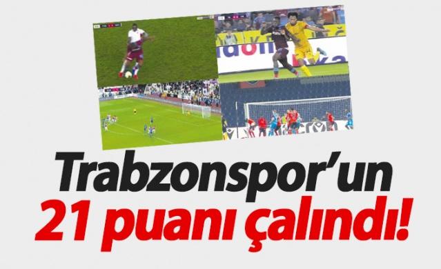 Trabzonspor'un 21 puanı çalındı