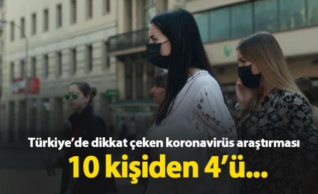 Türkiye'de dikkat çeken koronavirüs araştırması