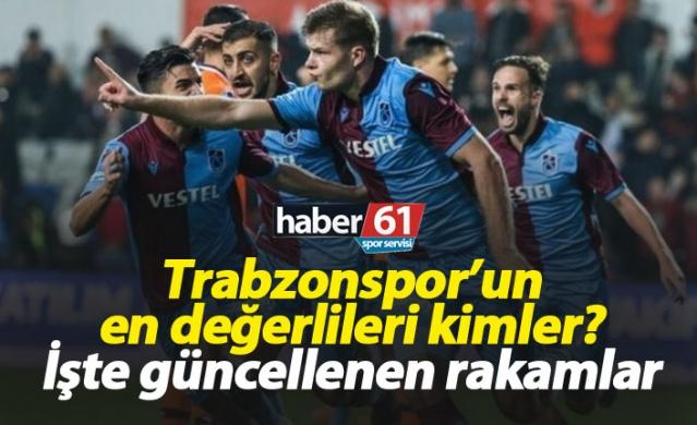 Trabzonsporlu futbolcuların değerleri güncellendi