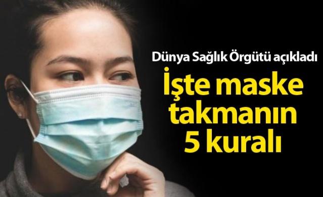 DSÖ maske takmanın 5 kuralını açıkladı