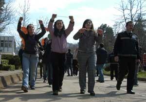 KTÜ'de protesto!