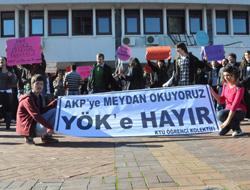 KTÜ'de YÖK protesto edildi