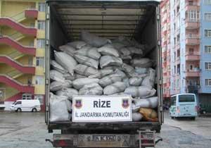 19 ton kaçak çay ele geçirildi